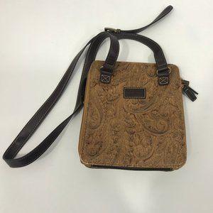 Relic by Fossil Crossbody Handbag Ebossed Brown